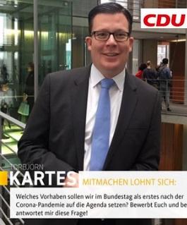Torbjörn Kartes im Bundestag
