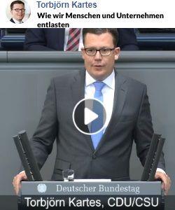 Rede von Torbjörn Kartes im Bundestag