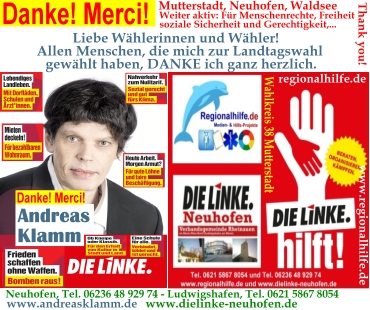 Hans Arndt sagt Danke für Ihre Stimme